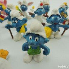 Figuras de Goma y PVC: COLECCIÓN DE FIGURAS PVC GOMA MUÑECO DIBUJOS ANIMADOS PITUFOS SMURFS 27 UNIDADES. Lote 150849710