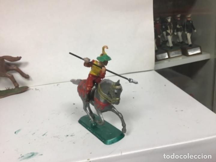 Figuras de Goma y PVC: FIGURA MEDIEVAL HISTOREX ELASTOLIN SERIE PEQUEÑA 4 cm exin castillos - Foto 4 - 150851702