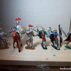 Figuras de Goma y PVC: SOLDADOS DE PLASTICO CABALLEROS JECSAN Y ARABES BUM COMO NUEVOS. Lote 151048222