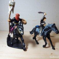 Figuras de Goma y PVC: SOLDADOS DE PLASTICO JINETES ARABES JECSAN COMO NUEVOS. Lote 151048922
