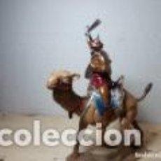 Figuras de Goma y PVC: SOLDADOS DE PLASTICO JINETE MONGOL JECSAN CON CAMELLO NUEVO. Lote 151049058