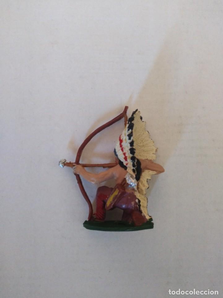 Figuras de Goma y PVC: Figura pvc plástico indio pech oeste vaqueros fart west - Foto 2 - 151073786
