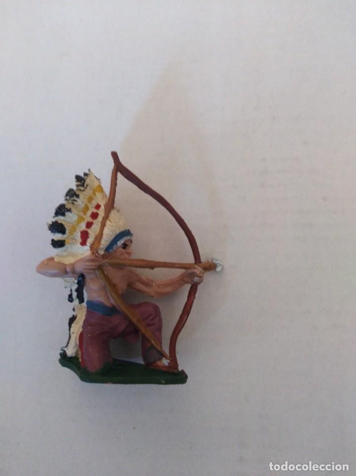 Figuras de Goma y PVC: Figura pvc plástico indio pech oeste vaqueros fart west - Foto 3 - 151073786