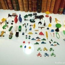 Figuras de Goma y PVC: GRAN LOTE DE TODO TIPO DE FIGURAS Y PIEZAS VARIADAS - ANIMALES, COCHES, CICLISTAS, ARMAS, ETC,ETC... Lote 151213402