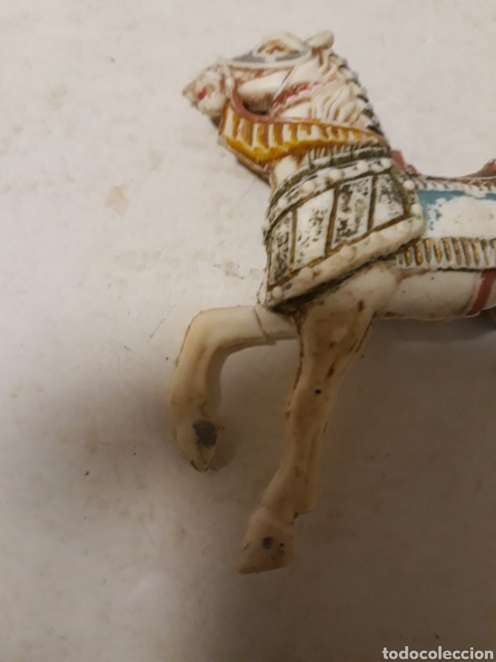 Figuras de Goma y PVC: FIGURA CABALLO MEDIEVAL EN PLASTICO PECH ,REAMSA,JECSAN - Foto 3 - 151253542