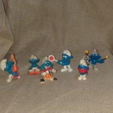 Figuras de Goma y PVC: LOTE DE 6 PITUFOS. Lote 151292770