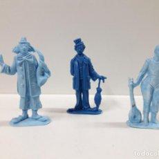 Figuras de Goma y PVC: TRES PAYASOS - SERIE CIRCO . REALIZADOS POR JECSAN . AÑOS 60 / 70 EN PLASTICO MONOCOLOR. Lote 151293126