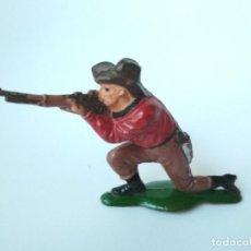 Figuras de Goma y PVC: FIGURA VAQUERO GOMA TEIXIDO. Lote 151331310