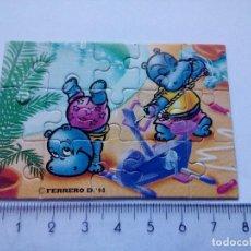 Figuras Kinder: K90 HUEVO KINDER SORPRESA PUZZLE HIPOPÓTAMOS HAPPY HIPPOS SERIE 1990. Lote 151378674