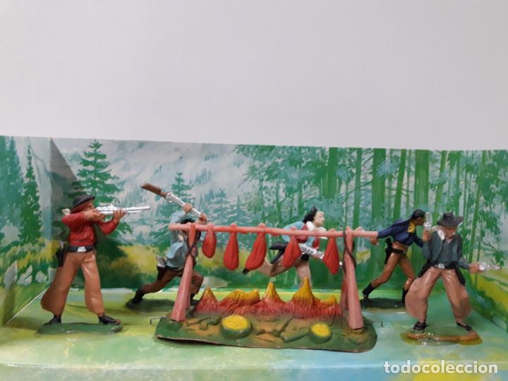 Figuras de Goma y PVC: CAJA ORIGINAL RUMBO AL OESTE . REALIZADA POR REAMSA . AÑOS 60 - Foto 2 - 151408918