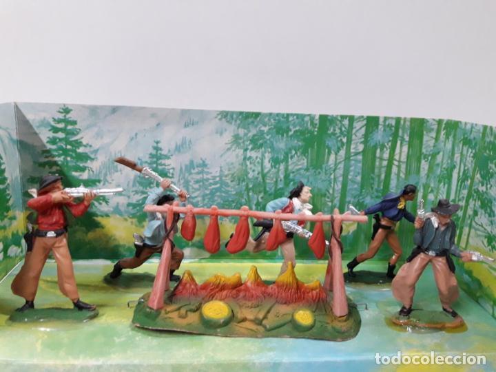 Figuras de Goma y PVC: CAJA ORIGINAL RUMBO AL OESTE . REALIZADA POR REAMSA . AÑOS 60 - Foto 5 - 151408918