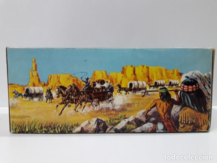 Figuras de Goma y PVC: CAJA ORIGINAL RUMBO AL OESTE . REALIZADA POR REAMSA . AÑOS 60 - Foto 10 - 151408918