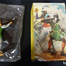 Figuras de Goma y PVC: COMANSI,ANTIGUA FIGURA DE MEDIEVAL CON BALLESTA,SERIE JUGUETES HISTORICOS. Lote 151415170