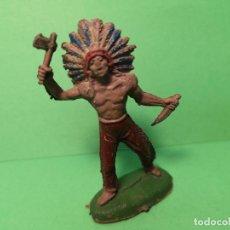 Figuras de Goma y PVC: JECSAN INDIO DE GOMA, 60 MM. . Lote 151422854
