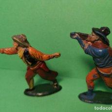 Figuras de Goma y PVC: TEIXIDO 2 COWBOYS DE GOMA. Lote 151427726