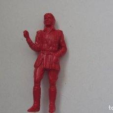 Figuras de Goma y PVC: FIGURA HUECA DE UN PILOTO-PLASTICO 54 MM. Lote 151458454