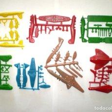 Figuras de Goma y PVC: MONTAPLEX LOTE DE 7 COLADAS DIVERSAS DE AVIONES. Lote 151490490