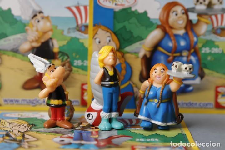 Figuras Kinder: 3 FIGURAS Y 3 FOLLETOS DEL PERSONAJE - SERIE ASTÉRIX AND THE VIKINGS - MAGIC KINDER - - Foto 2 - 151493090