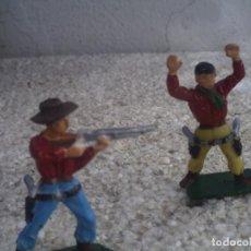 Figuras de Borracha e PVC: DOS VAQUEROS. Lote 151503662