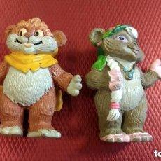 Figuras de Goma y PVC: STAR WARS-EWOKS-COMICS SPAIN-L F L-AÑO 1986-WICKET. Y LATARA. Lote 151506182