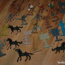 Figuras de Goma y PVC: LOTE CABALLOS INDIOS Y VAQUEROS COMANSI VER FOTOS . Lote 151519378
