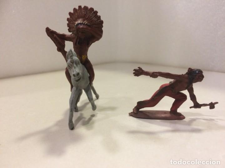 INDIOS PECH GOMA - 54 MM (Juguetes - Figuras de Goma y Pvc - Pech)