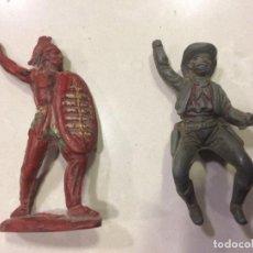 Figuras de Goma y PVC: INDIO Y VAQUERO PECH GOMA - 60 MM. Lote 151526074