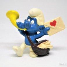 Figuras de Goma y PVC: ANTIGUA FIGURA EN PVC DE PITUFO CARTERO. PEYO. SCHLEICH.. Lote 151540942