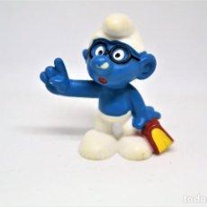 Figuras de Goma y PVC: ANTIGUA FIGURA EN PVC DE PITUFO CON LIBRO. PEYO. SCHLEICH.. Lote 151541038