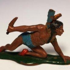 Figuras de Goma y PVC: TEIXIDO INDIO DE GOMA.. Lote 151792458