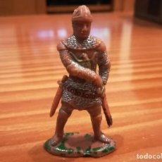 Figuras de Goma y PVC: MEDIEVAL DE PLASTICO-GUERRERO DEL REY RICARDO. Lote 151910150