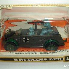 Figuras de Goma y PVC: ANTIGUO KUBELWAGEN MILITAR GERMAN SCOUT CAR BRITAINS LTD ESCALA 1:32 REF 9783. Lote 151984630