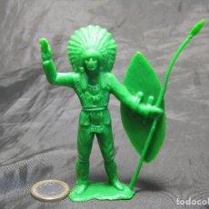 Figuras de Goma y PVC: JEFE INDIO COMANSI TAMAÑO GRANDE MANO ROZADA. Lote 152000574