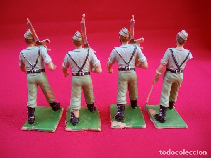 Figuras de Goma y PVC: 4 SOLDADOS LEGIONARIOS SOLDIS REAMSA DEL EJÉRCITO ESPAÑOL - Foto 3 - 152002930