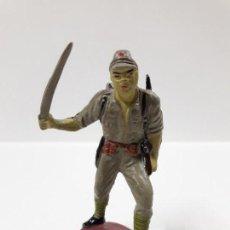 Figuras de Goma y PVC: SOLDADO JAPONES . REALIZADO POR PECH . AÑOS 50 EN GOMA. Lote 152007994