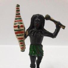 Figuras de Goma y PVC: GUERRERO NEGRO AFICANO . REALIZADO POR GAMA . AÑOS 50 EN GOMA. Lote 152009130