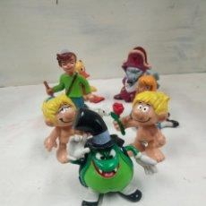 Figuras de Goma y PVC: ANTICHOLLO, ADAN Y EVA, PEDRO Y CLARA, PATOY CUERVO. Lote 152012146
