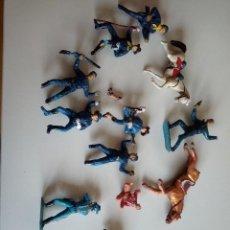 Figuras de Goma y PVC: FIGURAS ROTAS COMANSI JECSAN REAMSA PECH INDIOS VAQUEROS . Lote 152016850