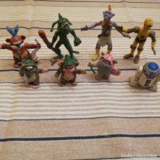 Figuras de Goma y PVC: 8 FIGURAS DE LOS EWOKS EN PVC. Lote 152035422
