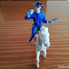 Figuras de Goma y PVC: TROMPETA DE CABALLERIA YANQUI DE LOS GRANDES A CABALLO. Lote 152060674