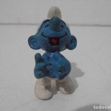 Figuras de Goma y PVC: FIGURA SERIE PITUFOS, PITUFO RIENDOSE. Lote 152149006