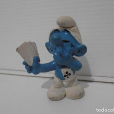 Figuras de Goma y PVC: FIGURA SERIE PITUFOS, PITUFO POKER. Lote 152150238