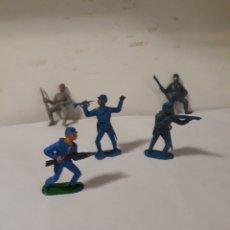Figuras de Goma y PVC: FIGURAS SOLDADOS YANKEES Y SUDISTA. Lote 152172656