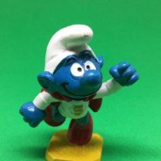 Figuras de Goma y PVC: PITUFO - SUPERMAN - SMURF SCHLUMPF- PVC - PITUFO -SCHLEICH -. Lote 152201614
