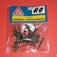 Figuras de Goma y PVC: SOLDADOS MORTEROS AMETRALLADORAS, II 2ª GUERRA MUNDIAL REF. 4517, EKO H0 1/87, ORIGINAL AÑOS 70.. Lote 152215209