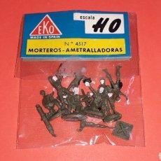 Figuras de Goma y PVC: SOLDADOS MORTEROS AMETRALLADORAS, II 2ª GUERRA MUNDIAL REF. 4517, EKO H0 1/87, ORIGINAL AÑOS 70.. Lote 152215598