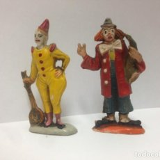 Figuras de Goma y PVC: 2 FIGURAS PAYASOS CIRCO DE JECSAN FABRICADO EN GOMA AÑOS 50 MIDEN 6.50 CMTS. Lote 152279946