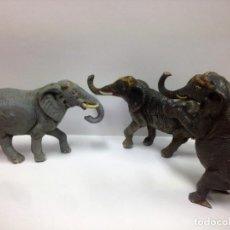 Figuras de Goma y PVC: 3 ELEFANTES CIRCO JECSAN FABRICADOS EN GOMA AÑOS 50. Lote 152286354