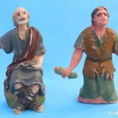 Figuras de Goma y PVC: DOS ANTIGUAS FIGURAS DE BELEN DE PECH, JECSAN ANUNCIACION, REAMSA. Lote 152327662