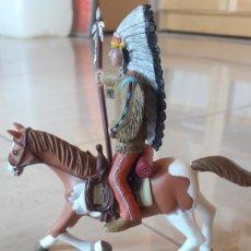 Figuras de Goma y PVC: INDIO A CABALLO COMANSI. Lote 152416416